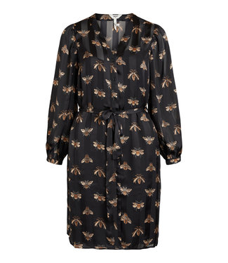 Object OBJBEE Shirt Dress - Black AOP Bee