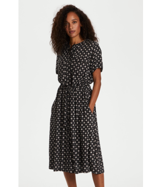 Kaffe KArutie Dress - Black Tie/dot AOP