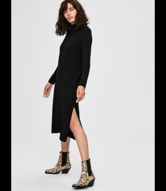 Selected Femme SLFINKA Cashmere Knit Dress  - Black