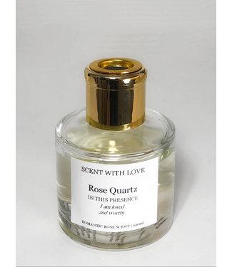 Scent With Love Transparante diffuser - Rose Quartz -  Romantic Rose