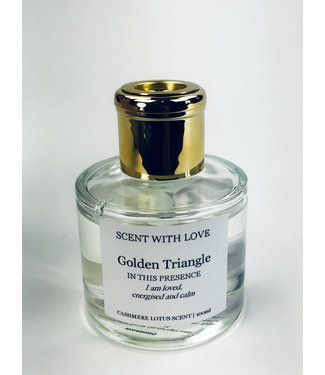 Scent With Love Transparante diffuser - Golden Triangle -  Cashmere Lotus