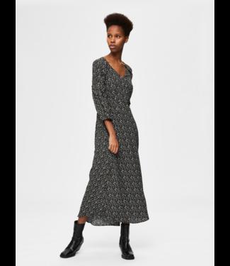 Selected Femme SLFRIYANKA-ORIANA Dress  - Black AOP