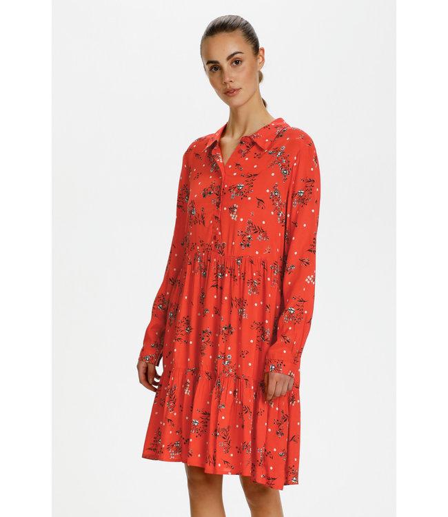 KAhaley Dress - Sierra Tomato AOP