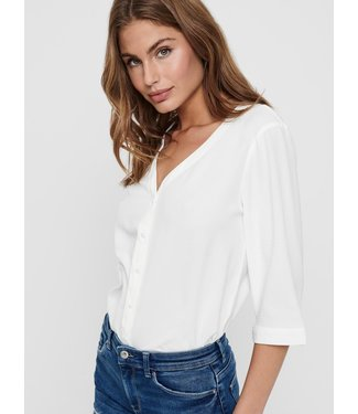 JACQUELINE de YONG JDYCAPOTE 3/4 Shirt - White
