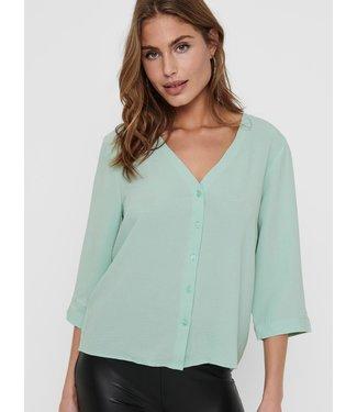 JACQUELINE de YONG JDYCAPOTE 3/4 Shirt - Pastel Turquoise