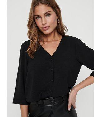 JACQUELINE de YONG JDYCAPOTE 3/4 Shirt - Black