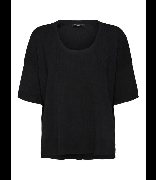SLFWILMA Knit U-neck - Black