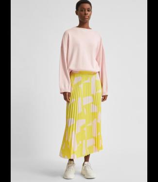 Selected Femme SLFALEXIS AOP Midi Skirt - Green Sheen AOP