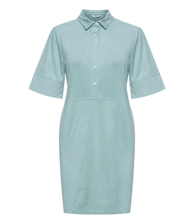 BYREGIZA Placket Dress - Blue Surf