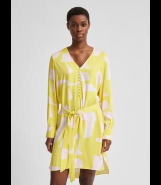 Selected Femme SLFCILLI-DYNELLA Short Dress - Green Sheen AOP
