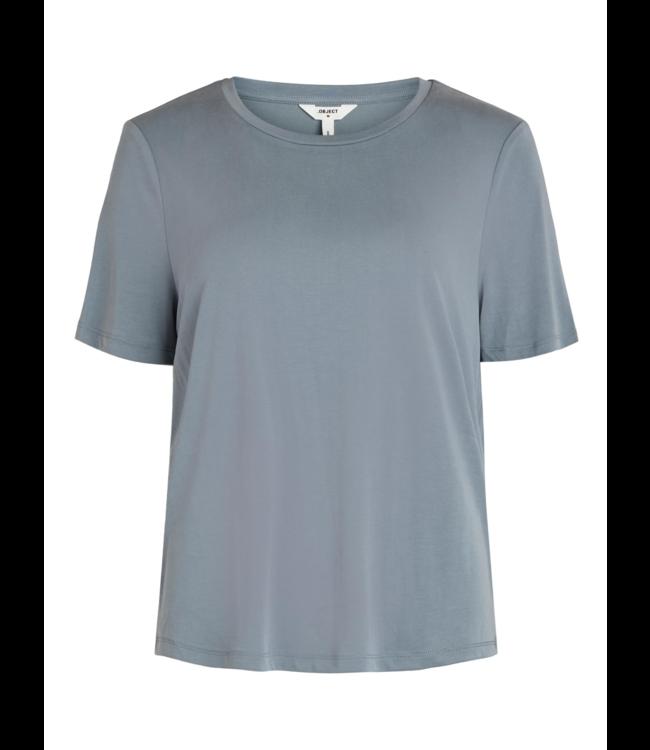 OBJANNIE T-shirt - Blue Mirage