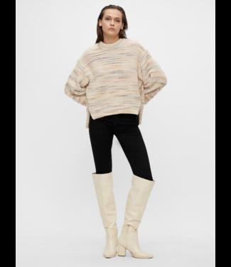 Object OBJBRIGITTE Knit Pullover - Sandshell