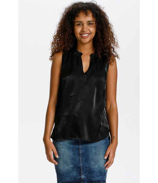 CRCECILIE Top - Pitch Black