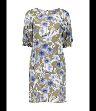 Geisha Dress 17115 - khaki/blue combi