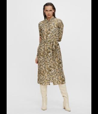 Object OBJAZZA Shirt Dress - Khaki AOP
