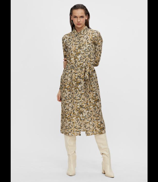 OBJAZZA Shirt Dress - Khaki AOP