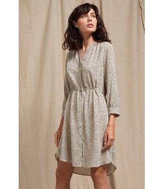 Selected Femme SLFDAMINA 7/8  AOP Dress NOOS - Sandshell