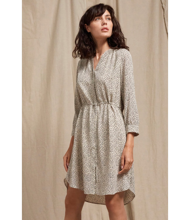 SLFDAMINA 7/8  AOP Dress NOOS - Sandshell