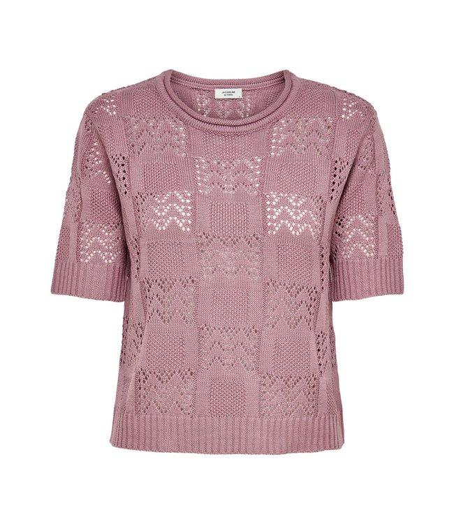 JDYSOFIA knit t-shirt - Nostalgia
