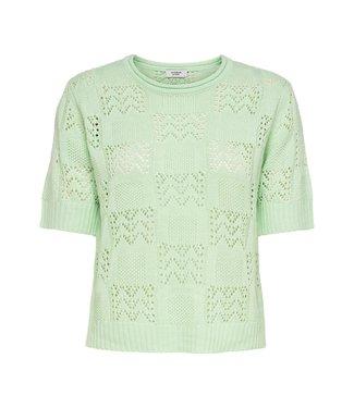 JACQUELINE de YONG JDYSOFIA knit t-shirt - Pastel Green