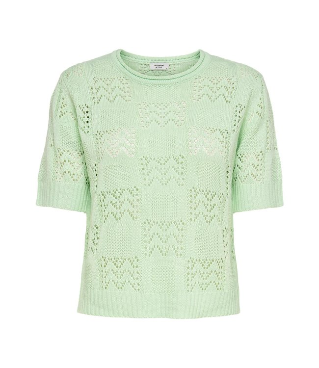JDYSOFIA knit t-shirt - Pastel Green