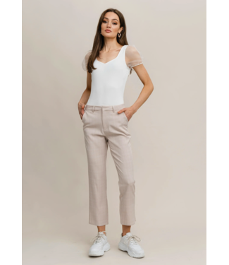 Rut&Circle Maya Check Pant - Light Beige Check
