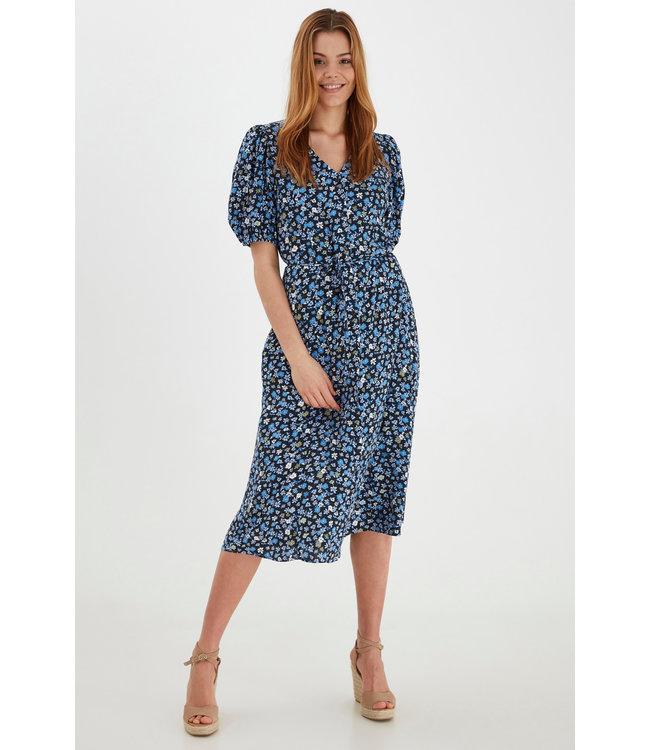 BYMMJOELLA Midi Dress - Brunnera Blue Mix