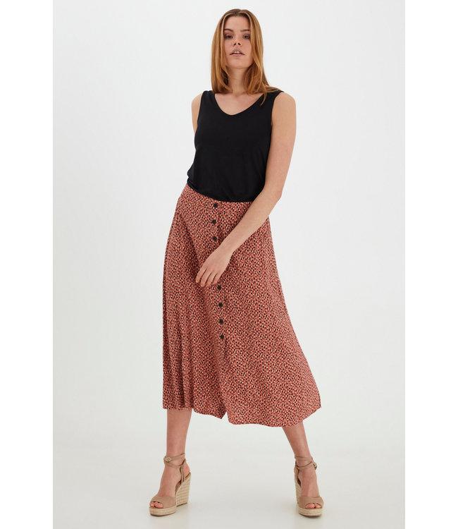 BYMMJOELLA Midi Skirt - Etruscan Red Mix