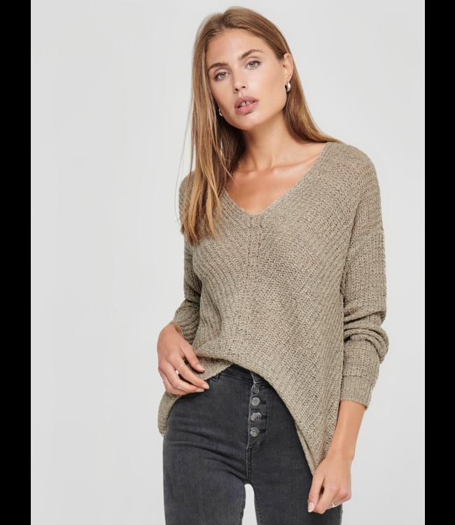 JDYNEW Megan Knit Pullover NOOS - Cement