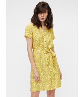 Object OBJHESSA Birdy Shirt Dress - Bamboo AOP