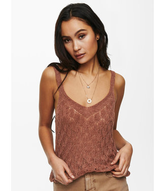 JACQUELINE de YONG JDYDESHA Knit Top - Rustic Brown