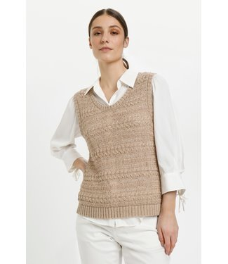 Cream CRBasil Knit Slipover BCI