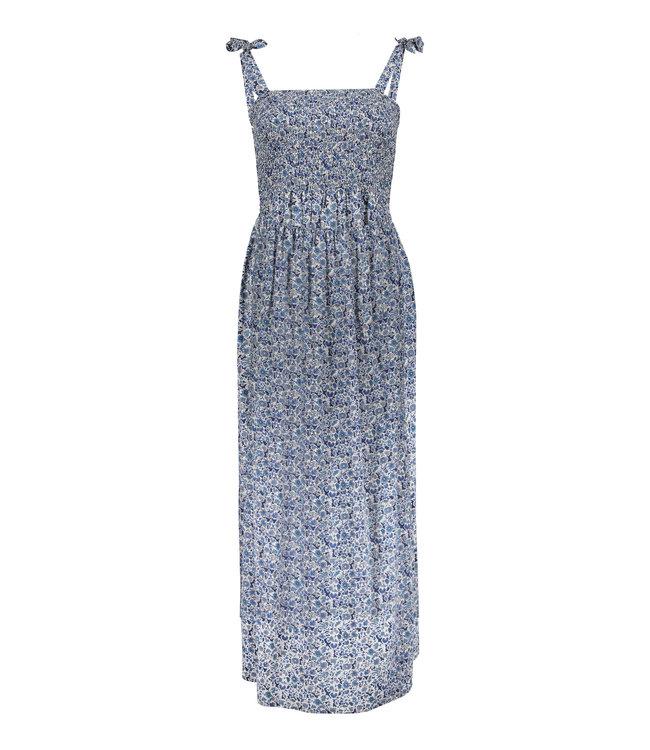 Dress 17073 - Blue/Grey/White AOP