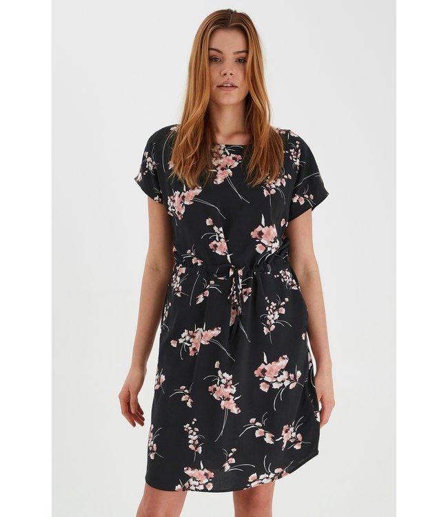 BYMMJOELLA O-Neck Dress - Black Mix