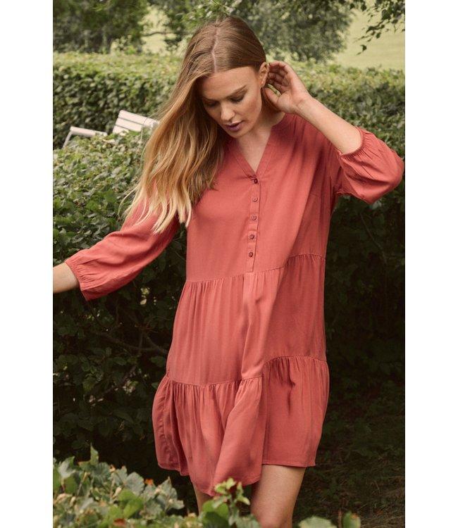 BYMMJOELLA Dress - Etruscan Red