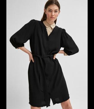 Selected Femme SLFEMIRA 3/4 Short Dress - Black