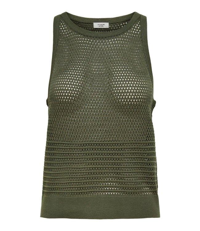 JDYLEXA Knit Tank Top - Kalamata