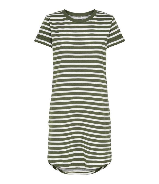 JDYIVY Life Stripe Dress - Kalamata Cloud Dancer Stripe