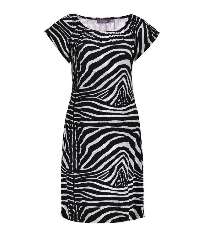 Dress 17182 - Black/Grey Zebra