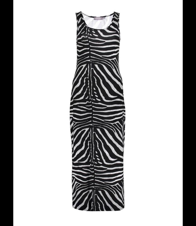Dress 17184 - Black/Grey Zebra