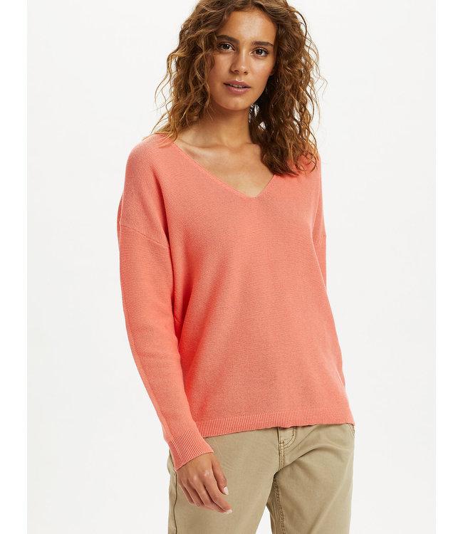 CRSILLAR Knit Pullover - Peach Echo