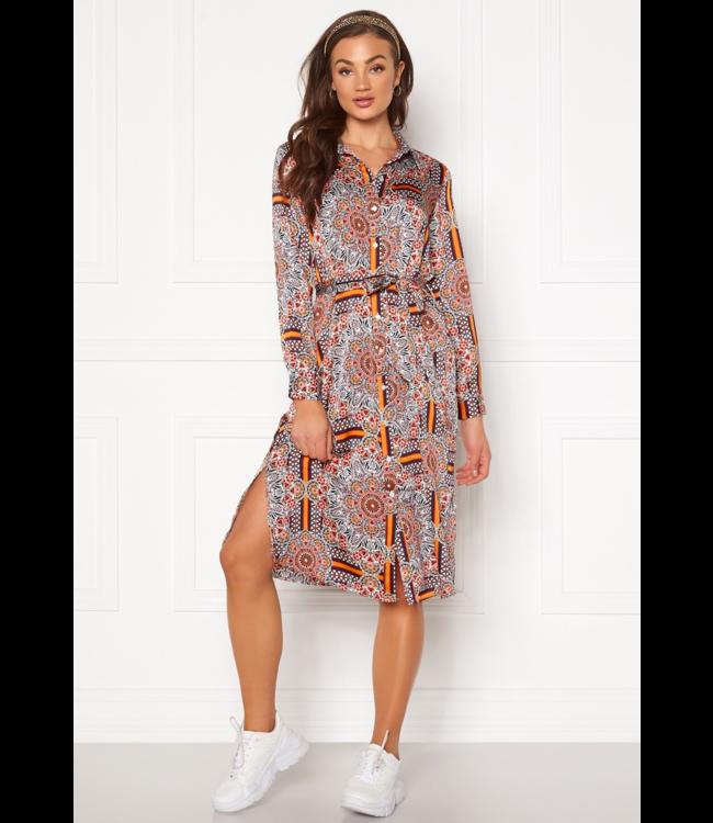 OBJAMELIA Shirt Dress - Gardenia AOP