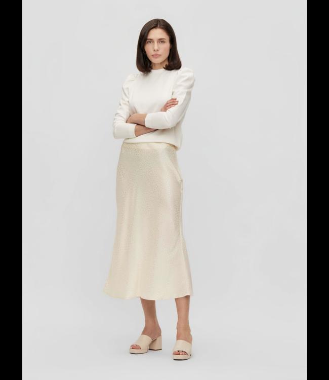 OBJYALANDA HW Midi Skirt - Sandshell