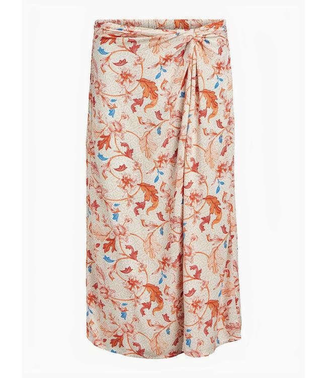 OBJOBDULIA HW Skirt - Sandshell AOP FLOWER