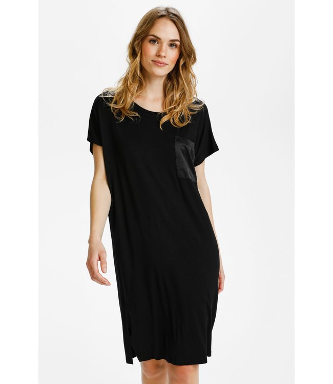 KAruth Jersey Dress - Black Deep
