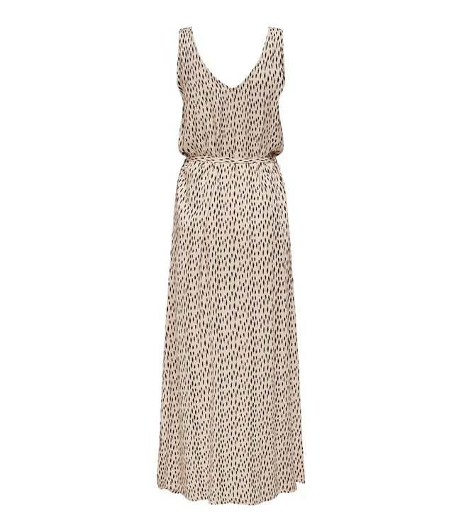 JDYSTAAR Life S/L Maxi Dress WVN - Cement AOP / Black Dots
