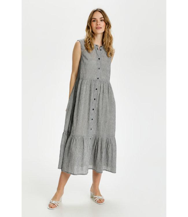KAvivian Dress - Black / Chalk Stripe