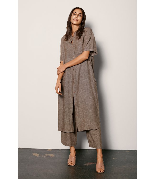FQLAVARA Shirt Dress - Capers Melange