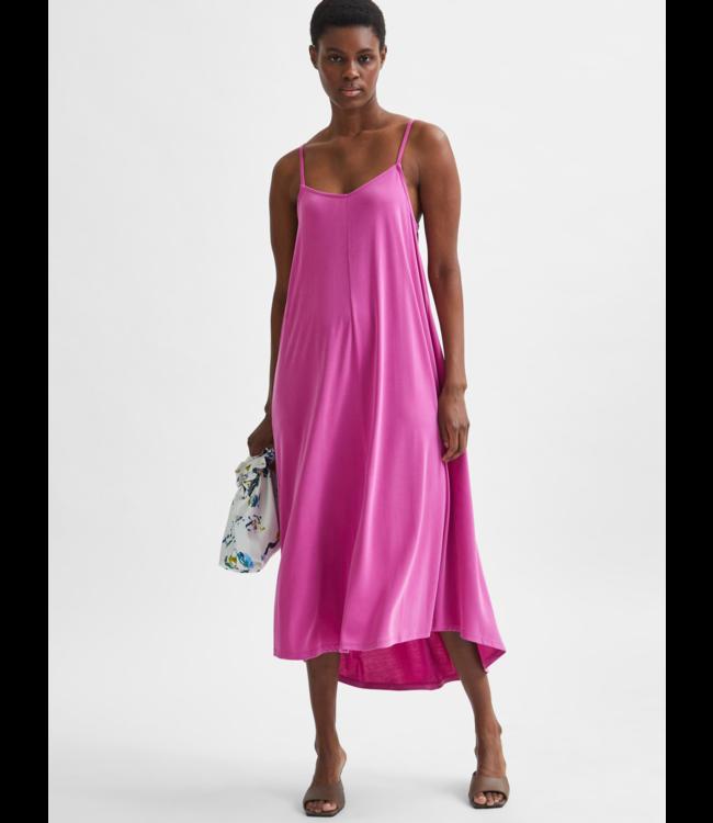 SLFFINIA Midi Strap Dress - Rose Violet