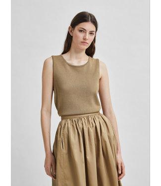 Selected Femme SLFMOON Knit Top - Kelp